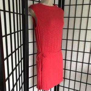 {Anthropologie Dolan} Coral Dress with Waist Tie